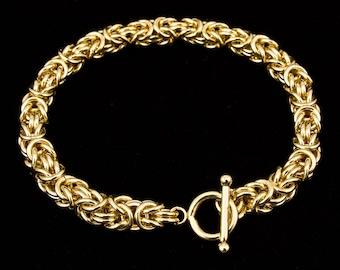 Byzantine Chain Maille Bracelet, Byzantine 14K Gold-Filled Bracelet, Chain Maille Bracelet, Byzantine Weave, Byzantine Link Bracelet, Chain