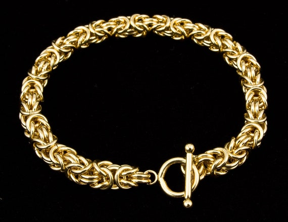 Petite Byzantine Chain Bracelet 18g Sterling Silver Handmade Chainmaille Out of Town 723-87 2019