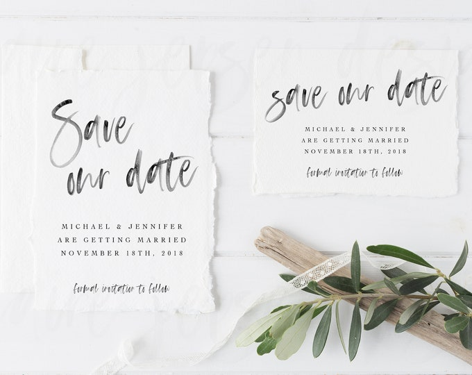 Featured listing image: Save Our Date, Save The Date Postcard, Save The Date Digital Download, Save The Date Printable, Custom Save The Date, Romantic Save The Date