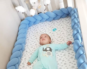 Braided Crib Bed Bumpers Knot Pillows Playmats By Jujuandjake