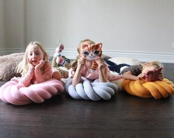 Floor Knot Pillow, Floor Knot Cushion, Floor Pillow, Floor Cushion, Seat Cushion, Home Decor, Kids room decor, Floor pouf