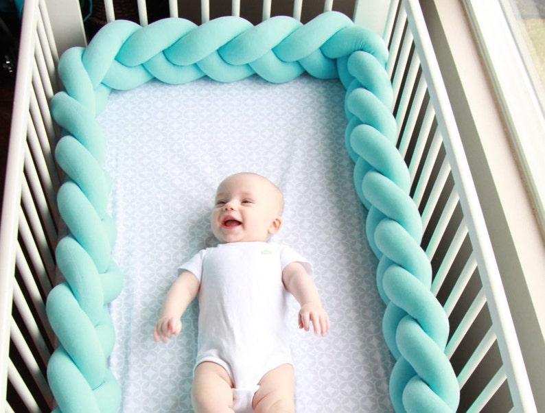 Braided Crib Bumper  Knot Pillow Knot Cushion Decorative image 0