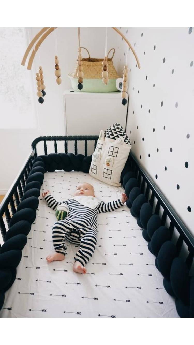 Braided Crib Bumper Knot Pillow Knot Cushion Decorative Etsy