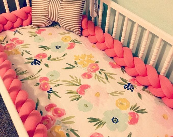 Braided Crib Bumper Knot Cushion Decorative Pillow Baby Shower Gift Newborn Crib Toddler Bed Bumper Baby Cot Bumper