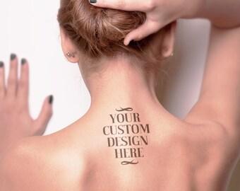 Custom temporary tattoo | Etsy