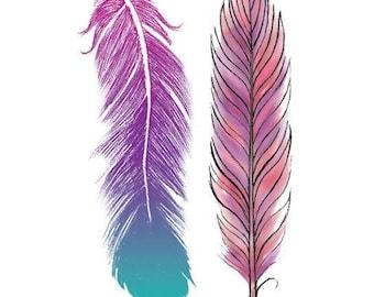 Feathers Temporary Tattoo