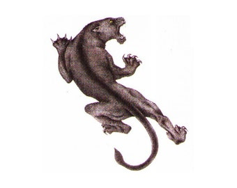 Temporary tattoos Panther - 2x2 inch