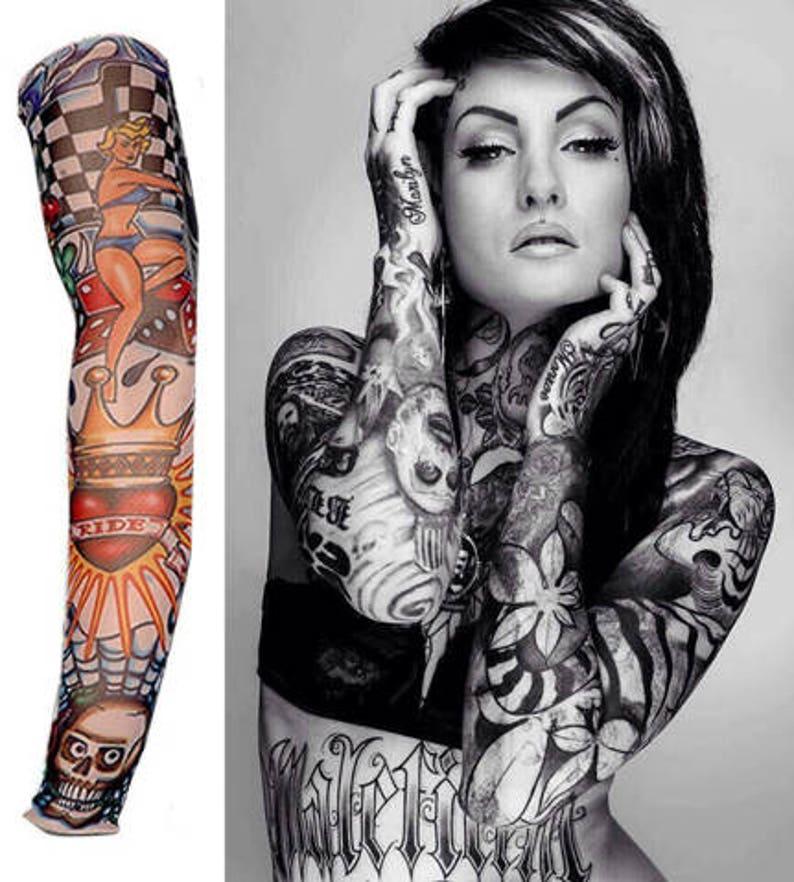 b6bb18755 Temporary Tattoo Sleeve Nylon | Etsy