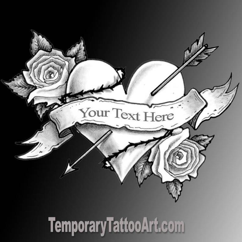 Create Temporary Tattoo add text to fake tattoos | Etsy