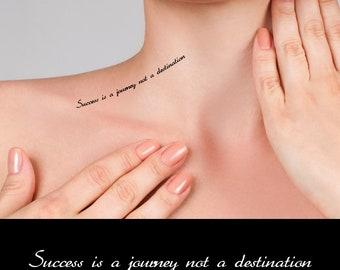 Inspirational Quotes - Success is a journey not a destination