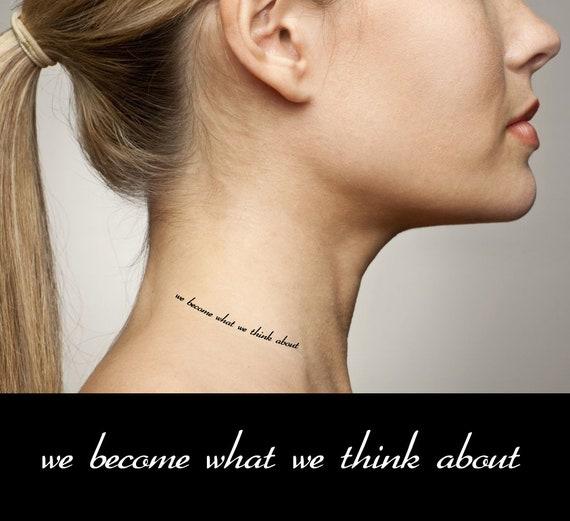 Inspirujące Cytaty Tymczasowe Tatuaże Stajemy Się Tym Co Etsy