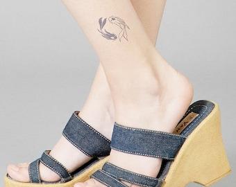 Koi Fish Temporary Tattoo Fake Tattoos