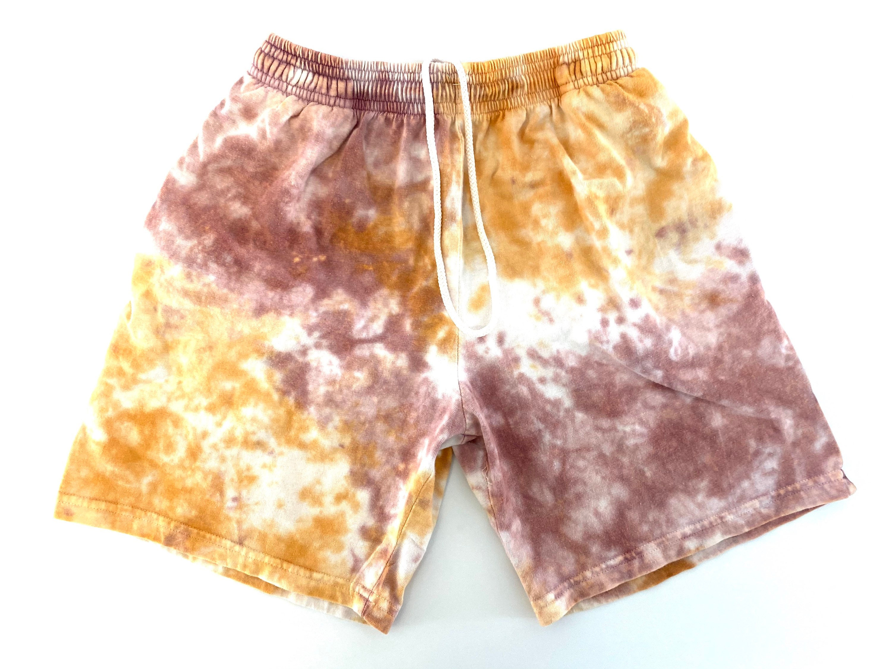 Tie Dye Sweat Shorts For Women Distressed vintage Short Cuttoffs SMALL