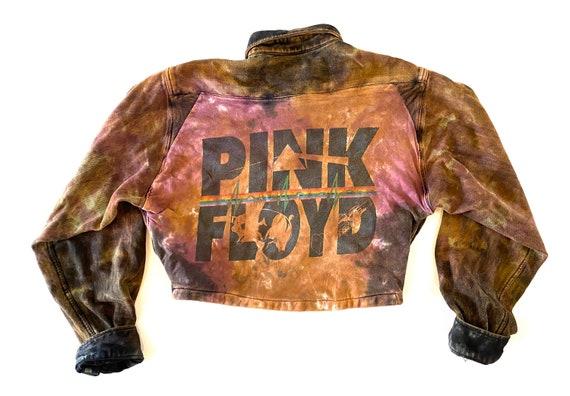 Pink Floyd Crop Top Flannel Jacket