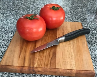 Cherry and Maple Hardwood Square Cutting Board