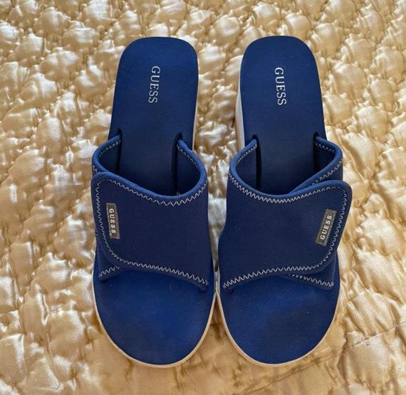 Guess vintage platform mules rare sandals 90s 200… - image 1