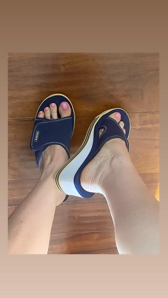 Guess vintage platform mules rare sandals 90s 200… - image 5