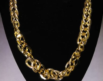 Multi-Strand Gold Costume Necklace