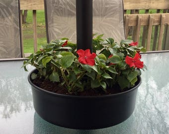 Umbrella Planter / Patio Planter / Tabletop Planter - Flower Pot, Rustic