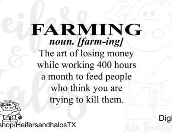 Farming definition svg - cricut, silhouette, t-shirts, decals, yeti cups, farm, country
