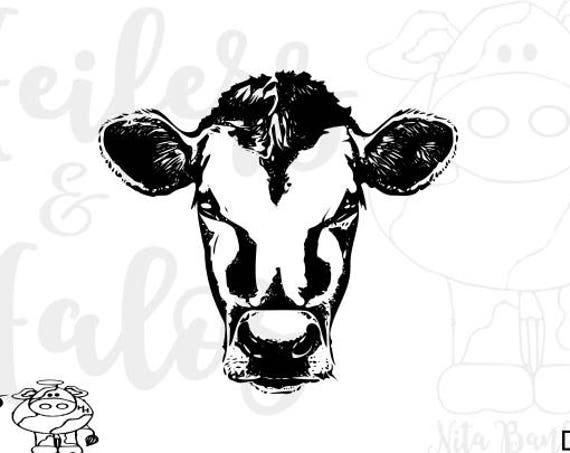 Cow face svg for cricut, silhouette, decals, yeti cup, t-shirts. Farm svg, ranch svg, western svg
