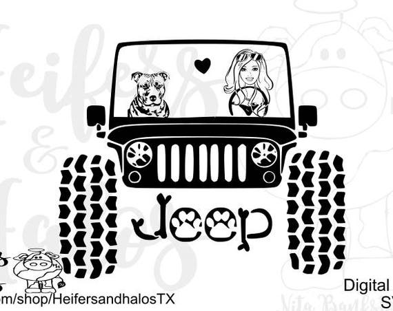 My pitbull rides shotgun digital cut file, svg, pdf, png, eps, dxf, studio3 great design for t-shirts, decals, etc. cricut, silhouette