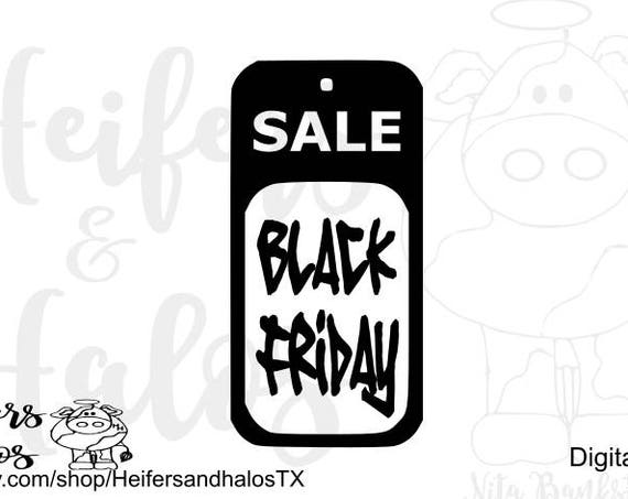 Black Friday digital cut file design for cricut and silhouette, svg, pdf, png, eps, dxf, studio3 files, use for t-shirts, decals, etc.