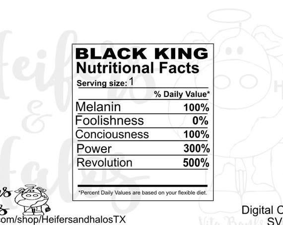 Black King Nutritional Facts svg