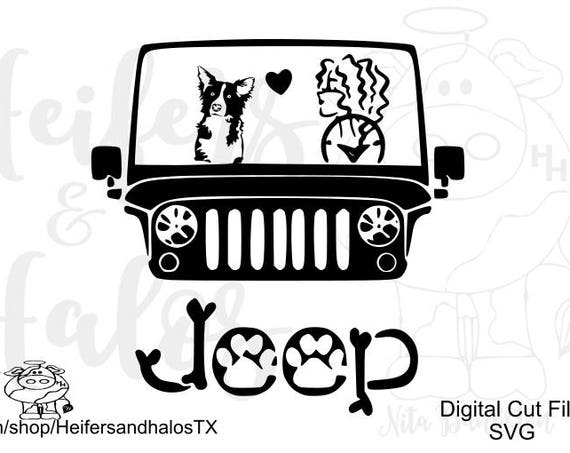 My border collie rides shotgun svg, pdf, png, eps, dxf cut file for cricut and silhouette.  Use for t-shirts, decals, yeti cups, phone cover