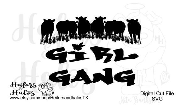 Girl Gang svg, pdf, png, eps,dxf, studio3 for cricut, silhouette, cutting machine