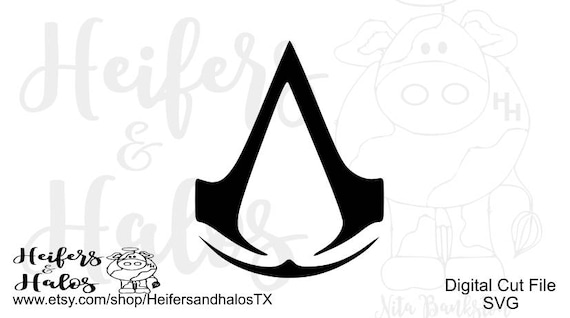 Assassin's Creed svg, png, eps, dxf, pdf cut file for cricut and silhouette, t-shirts, decals, yeti cups, video games, gamer, game svg