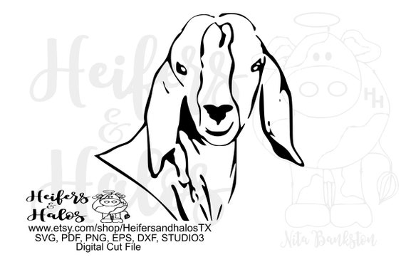Goat head digital file, digital cut file, printable, sublimation, svg, pdf, png, eps,dxf for cricut and silhouette cutting machines