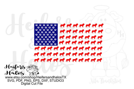 Lion USA flag digital file, digital cut file, printable, sublimation, svg, pdf, png, eps, dxf. cricut, silhouette, school mascot, 4th of jul