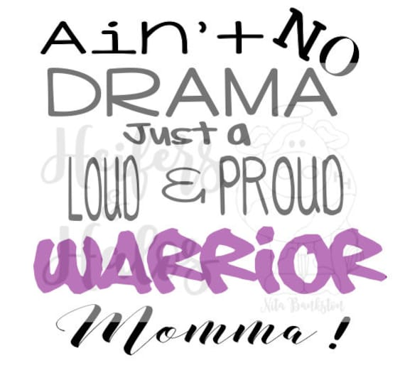 Ain't No Drama, Just a loud & proud (YOUR TEAM HERE) Momma!  Customize this and show your school spirit.  Great for t shirts, cups, decals.