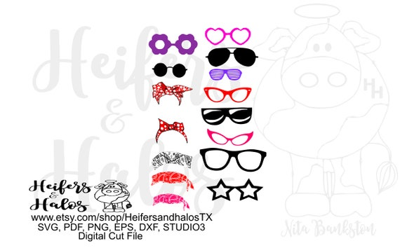 Glasses, sunglasses, and more bandanas digital file, digital cut file, svg, pdf, png, eps, dxf, cricut, silhouette