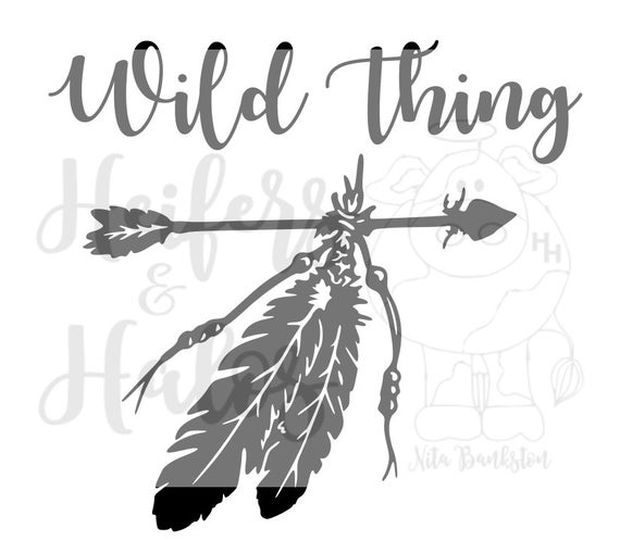 Wild Thing/Wild Things SVG, Companion to Raising Wild Things SVG for Mom/Kid t-shirts, decals use with cricut and silhouette cameo