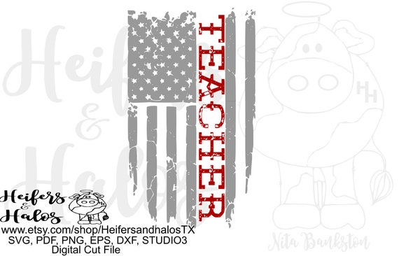 Teacher flag digital file, digital cut file, printable, sublimation, svg, pdf, png, eps dxf, cricut, silhouette