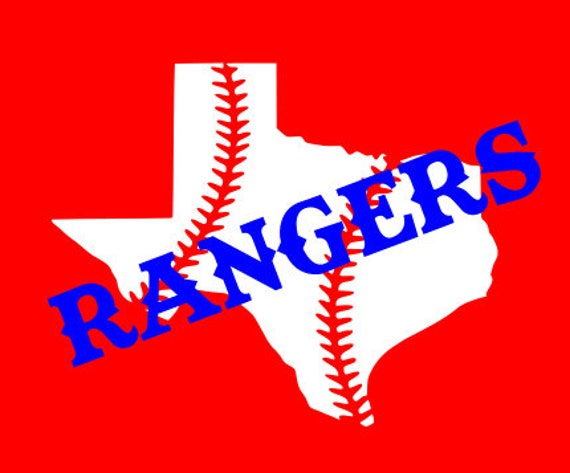 Texas Rangers SVG - for the guy in your life that needs a Rangers shirt or decal!