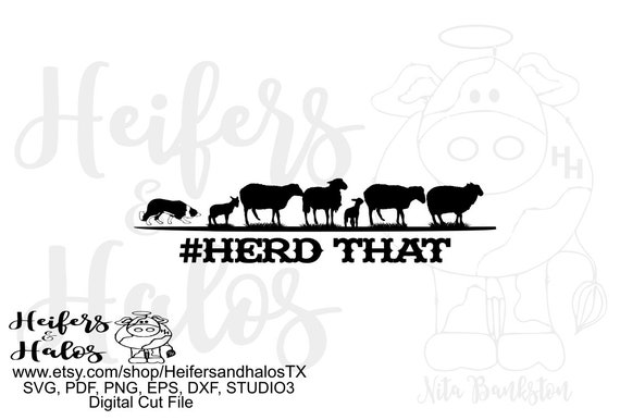 Herd that sheep with border collie digital file, digital cut file, sublimation, printable, svg, pdf, png, eps, dxf, cricut, silhouette
