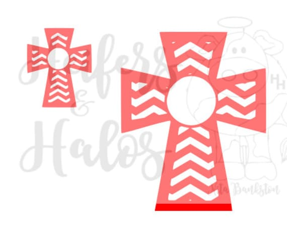 Chevron Cross Monogram
