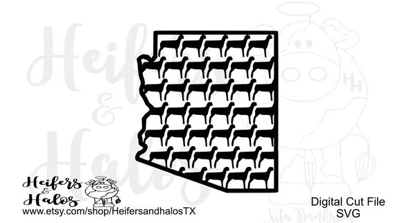 Arizona Show Sheep Lamb svg, png, pdf, eps, dxf, studio3 digital cut file for t-shirts and all kinds of stuff, livestock show, 4H, FFA