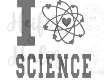 I love Science - atom