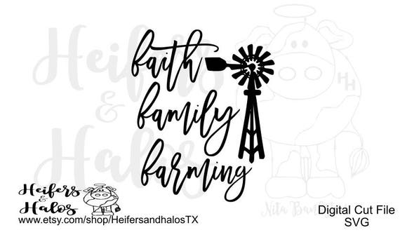 Faith, Family, Farming - show your farming pride with this decal, tshirt, or yeti cup