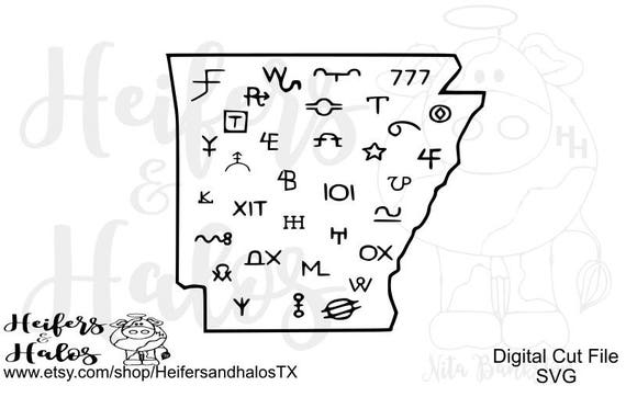 Arkansas Brands svg cut file for cricut and silhouette.  T-shirts, decals, yeti cups, western, country, ranchy, ranch style