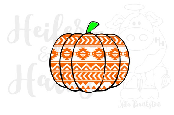 Aztec pumpkin cut file for fall, autumn, or halloween.  Digital cut file svg, pdf, png, eps, dxf, studio3, cricut, silhouette t-shirts