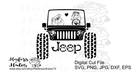 My English Bulldog rides shotgun girl, svg, pdf, png, eps,dxf, studio3 digital cut file for use in t-shirt, cup, and decal design girl