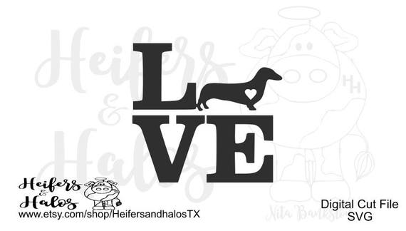 Doxie, Dachshund love - great for yeti cup, t-shirts, and decals for your car!