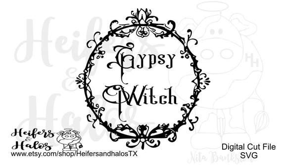 Gypsy Witch Halloween digital cut file for t-shirts, decal, yeti cup designs. svg, pdf. png, eps, dxf, studio3