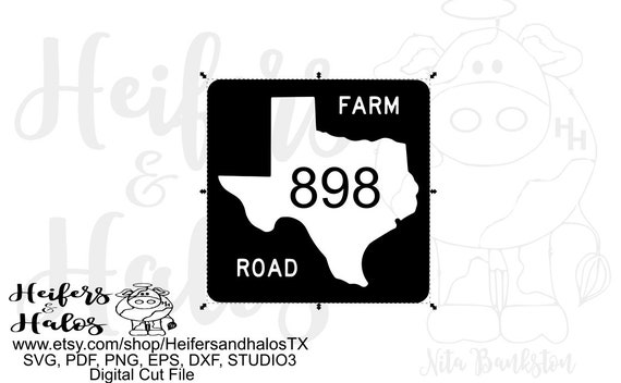 Texas Farm customizable road sign digital file, printable, digital cut file, sublimation, svg, pdf, png, eps, dxf, cricut, silhouette