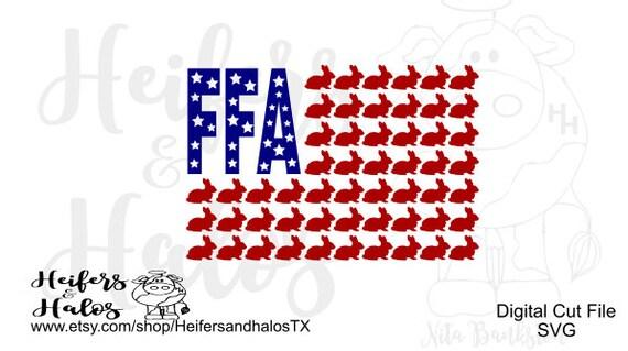FFA rabbit flag digital file for cricut, silhouette, printing, cards, sublimation, svg, pdf, png, eps, dxf, studio3, t-shirt design